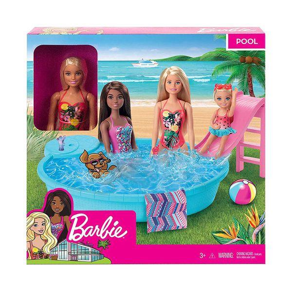 Mattel Barbie Νέα Εξωτική Πισίνα με Κούκλα GHL91