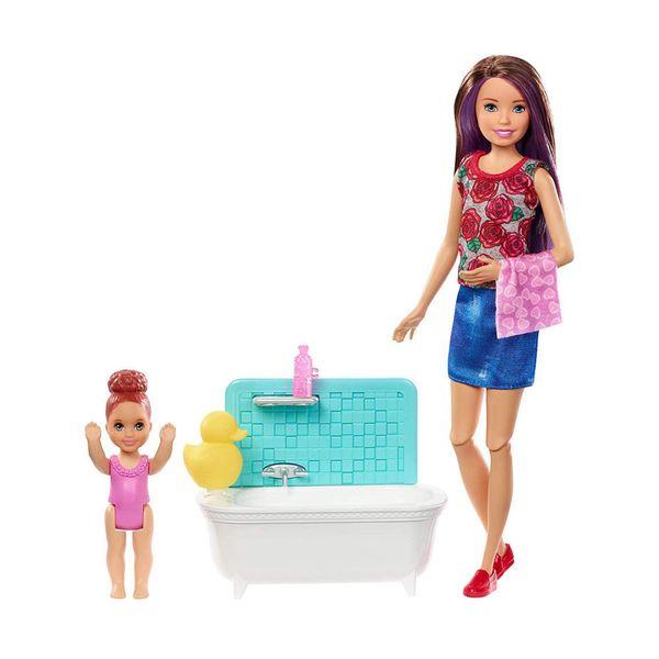 Mattel Barbie Babysitters - Ώρα για Μπάνιο FXH05
