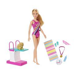 Mattel Βarbie DHA - Κολυμβήτρια GHK23