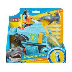 Mattel Imaginext Καρχαριο-Όχημα με Δύτη GKG79