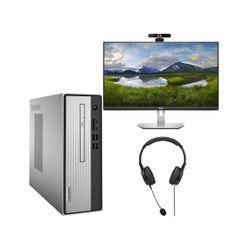 "Lenovo  IdeaCentre 3 PC & Dell 24"" IPS Monitor & Advent Webcam & Headset"