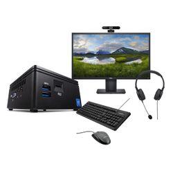 "Infinity Gear  Core 1 Mini PC & Dell 24"" IPS Monitor & Advent Webcam & Headset & Πληκτρολόγιο/Ποντίκι"