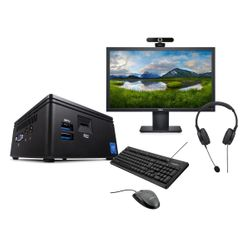 "Infinity Gear Core 1 Mini PC & Dell 21.5"" FHD Monitor & Advent Webcam & Headset & Πληκτρολόγιο/Ποντίκι"