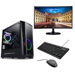 Infinity Gear Core 2 Rev.2 PC & Samsung 24'' Curved Monitor & Advent Ενσύρματο Πληκτρολόγιο/Ποντίκι