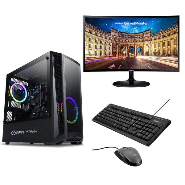 Infinity Gear Core 2 Rev.2 PC & Samsung 27'' Curved Monitor & Advent Ενσύρματο Πληκτρολόγιο/Ποντίκι