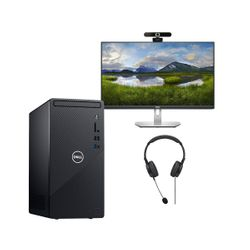 """Dell  38381 PC & 24"""" IPS Monitor & Advent Webcam & Headset"""