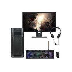 """Infinity Gear Core 1 Rev.2 PC & Dell 24""""Monitor & ADX Gaming Keyboard & Mouse & Advent Headset"""