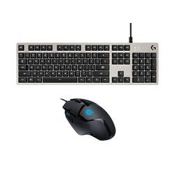 Logitech Keyboard G413 SILVER & Mouse G402