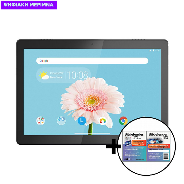 Lenovo Tab M10 2GB/32GB 4G Tablet & Bitdefender Total Security 1 Device, 2 Years Card Software