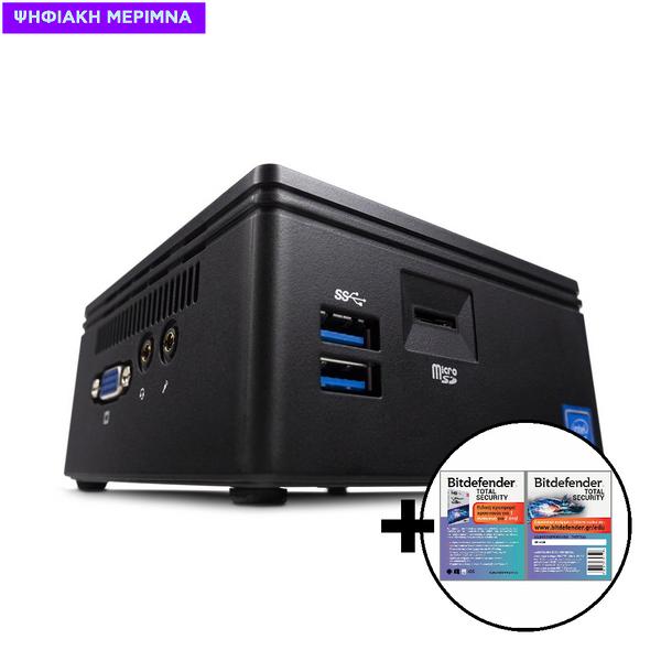 Infinity Gear Core 1 Mini Desktop PC & Bitdefender Total Security (1 Device, 2 Years) Card Software