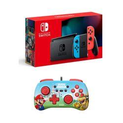 Nintendo Switch Red&Blue & Hori Pad Mini Super Mario