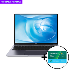 Huawei  MateBook 14 AMD R5-4600H/16GB/512GB Space Gray Laptop & Kaspersky Total Security 1 Device, 2 Years Software