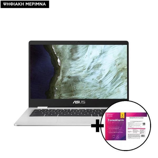 Asus Chromebook C423NA-EB0582 N3350/4GB/64GB Laptop & ZoneAlarm Extreme Security for Institutions 1 Device, 2 Years Software
