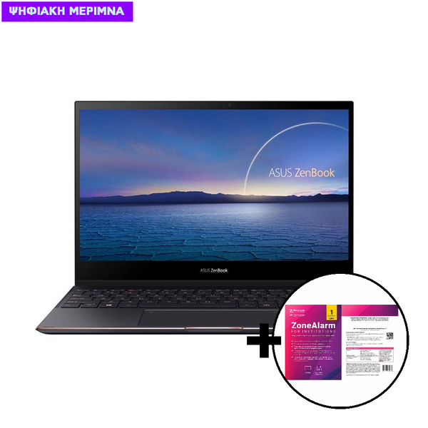 Asus  ZenBook Flip S UX371EA-WB711R i7-1165G7/16GB/512GB Laptop & ZoneAlarm Extreme Security for Institutions 1 Device, 2 Years Software
