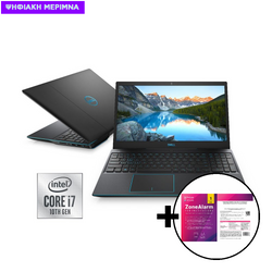 Dell  G3 i7-10750H/8GB/512GB/1650Ti 4GB Laptop & ZoneAlarm Extreme Security for Institutions 1 Device, 2 Years Software
