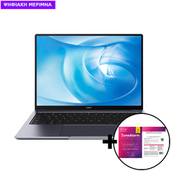 Huawei  MateBook 14 AMD R5-4600H/16GB/512GB Space Gray Laptop & ZoneAlarm Extreme Security for Institutions 1 Device, 2 Years Software