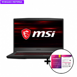 MSI GF65 Thin 10SDR i7-10750H/8GB/512GB/GTX 1660Ti Laptop & ZoneAlarm Extreme Security for Institutions 1 Device, 2 Years Software