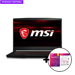 MSI GF63 Thin 10SCR i7-10750H/8GB/512GB/GTX 1650Ti 4GB Laptop & ZoneAlarm Extreme Security for Institutions 1 Device, 2 Years Software