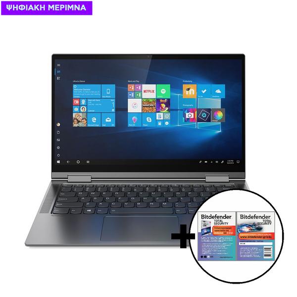 Lenovo  Yoga C740-14IML I7-10510U/16GB/512GB Laptop/Tablet & Bitdefender Total Security (1 Device, 2 Years) Card Software
