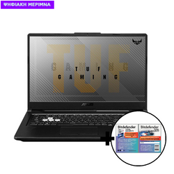 Asus TUF Gaming F17 FX706LI-H7010T i5-10300H/16GB/512GB/GTX 1650Ti 4GB Laptop & Bitdefender Total Security (1 Device, 2 Years) Card Software