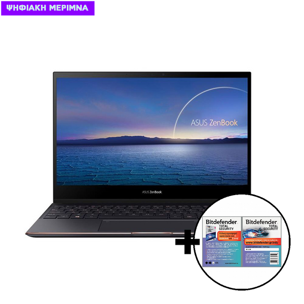 Asus  ZenBook Flip S UX371EA-WB711R i7-1165G7/16GB/512GB Laptop & Bitdefender Total Security (1 Device, 2 Years) Card Software