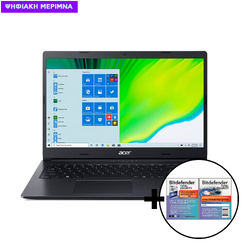 Acer Aspire 3 A315-23 3020E/4GB/128GB Laptop & Bitdefender Total Security (1 Device, 2 Years) Card Software