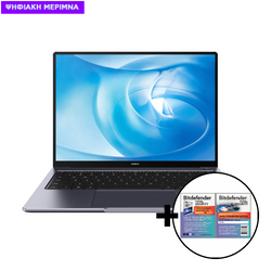 Huawei  MateBook 14 AMD R5-4600H/16GB/512GB Space Gray Laptop & Bitdefender Total Security (1 Device, 2 Years) Card Software