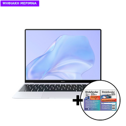 Huawei  MateBook X i5-10210U/16GB/512GB Silver Frost & Bitdefender Total Security (1 Device, 2 Years) Card Software