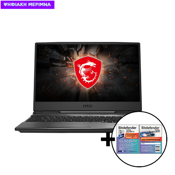 MSI GP65 Leopard 10SFK i7-1075OH/16GB/512GB/RTX 2070 8GB Laptop & Bitdefender Total Security (1 Device, 2 Years) Card Software