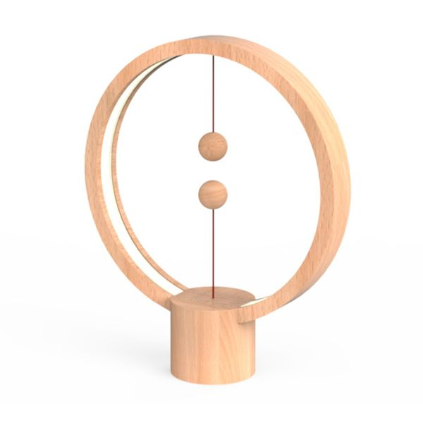 Allocacoc Heng Balance Lamp Round Wood