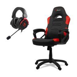 Arozzi Enzo Red Gaming Καρέκλα & Aria Red Gaming Headset