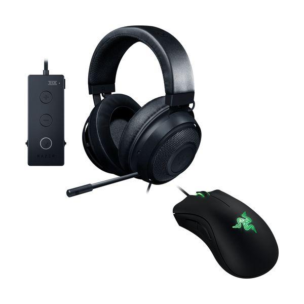 Razer Kraken Tournament Edition Gaming Headset & DeathAdder Essential Gaming Mouse
