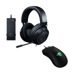 Razer Kraken Tournament Edition Gaming Headset & DeathAdder Essential Gaming Mouse