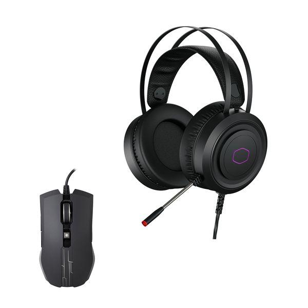 Coolermaster CH-321 USB Gaming Headset & Devastator 3 MM110 Gaming Mouse