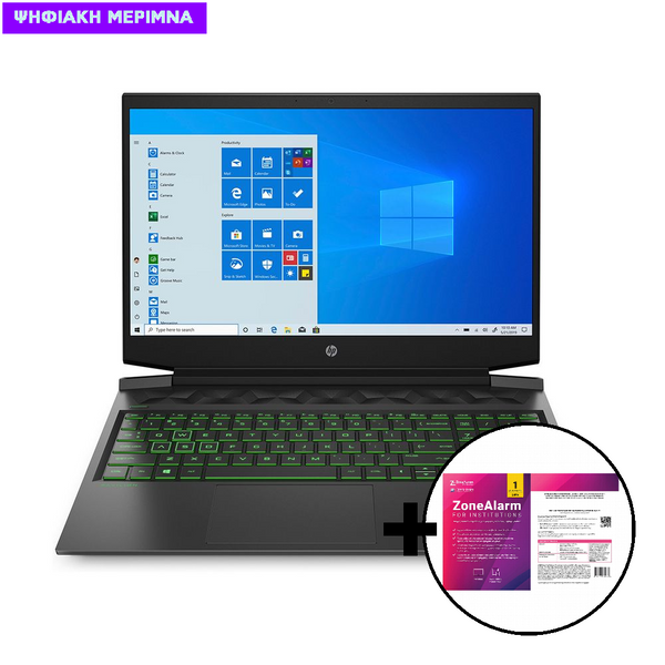 HP Pavilion 16-a0001nv i5-10300H/16GB/512GB Laptop & ZoneAlarm Extreme Security for Institutions 1 Device, 2 Years Software