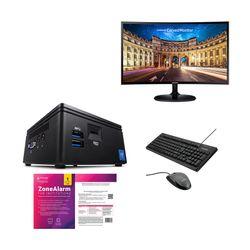 "Infinity Gear Core 1 Mini PC & Samsung 27"" Monitor & Advent Ενσύρματο Πληκτρολόγιο & Ποντίκι & ZoneAlarm Antivirus"