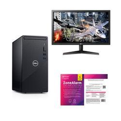 "Dell  Inspiron 3881 i3-10100-8GB-1TB PC & LG 24"" Monitor & ZoneAlarm Extreme Security Antivirus"