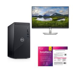 "Dell  Inspiron 3881 i3-10100-8GB-1TB PC & Dell 27"" Monitor & ZoneAlarm Extreme Security Antivirus"