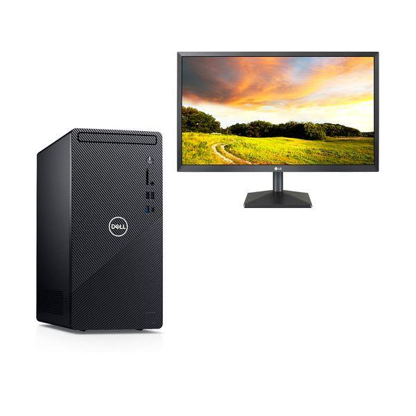 "Dell  Inspiron 3881 i3-10100-8GB-1TB PC & LG 24"" Monitor"