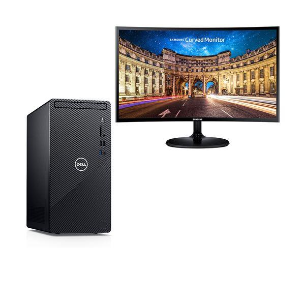 """Dell  Inspiron 3881 i3-10100-8GB-1TB PC & Samsung 27"""" Monitor"""