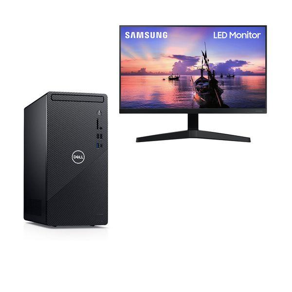 "Dell  Inspiron 3881 i3-10100-8GB-1TB PC & Samsung 24"" LED Monitor"