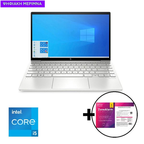 HP Envy 13-ba1013nv i5-1135G7/8GB/512GB Laptop & ZoneAlarm Extreme Security for Institutions 1 Device, 2 Years Software