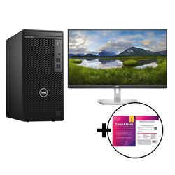 """Dell  Optiplex 3080 Desktop PC & S2421HN 24"""" Monitor & ZoneAlarm Extreme Security for Institutions 1 Device, 2 Years Software"""