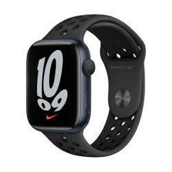 Apple Watch Series 7 Nike 45mm Midnight Aluminum Anthracite Black Sportband