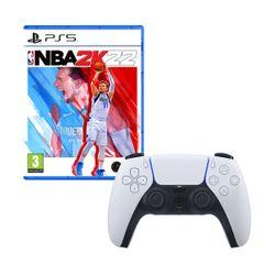 Sony DualSense Wireless Controller & NBA 2K 22 PS5 Game
